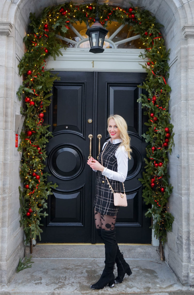 Quebec City - French Inspired Look Forever 21 Tweed Jumper