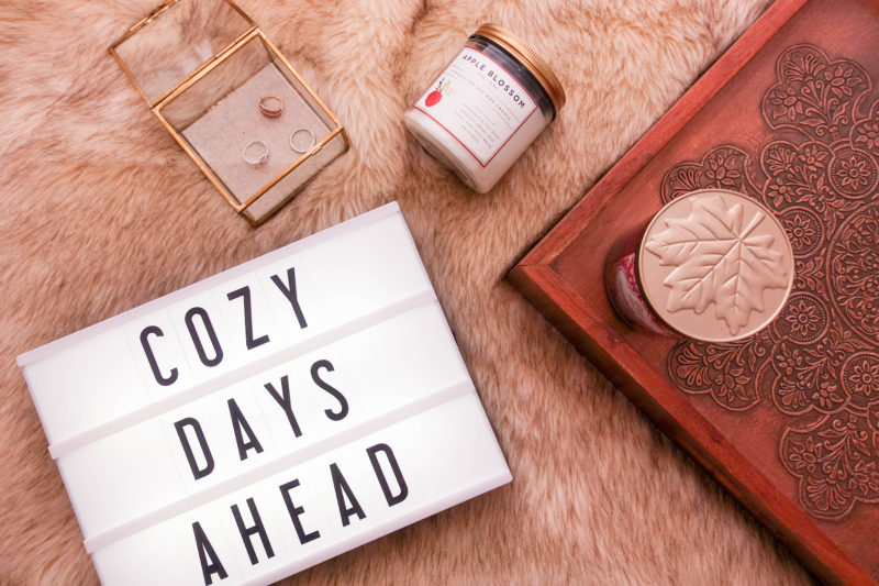 Cozy home decor for fall