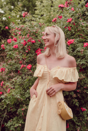 Off the Shoulder Yellow for Summer | Forever 21 Linen Dress